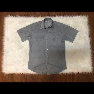 Wrangler Wrancher Pearl Button Men's Medium Shirt